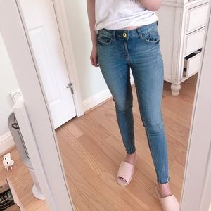 Zara light denim skinny jeans
